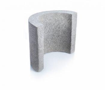 Bloque de cemento curvo para columna redonda de 25 cm. de espesor