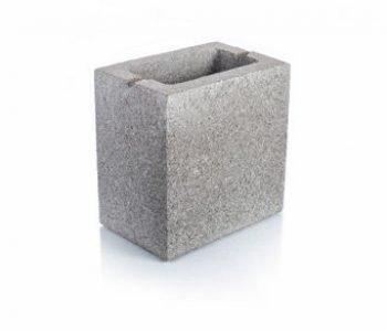 Bloque de cemento para muro de 13 cm. de espesor