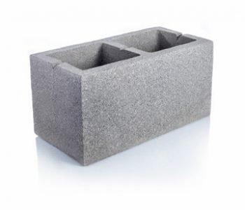 Bloque de cemento portante para muro Visto de 20 cm. de espesor