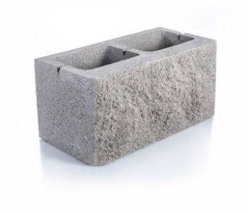 Bloque de cemento Simil Piedra para muro de 20 cm. de espesor