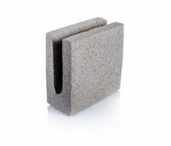 Bloque de cemento para encadenado de 10 cm. de espesor