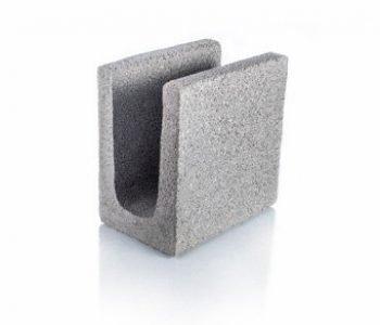 Bloque de cemento para encadenado de 13 cm. de espesor
