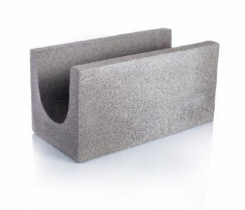 Bloque de cemento para encadenado Visto de 40 cm. X 20 cm. de espesor