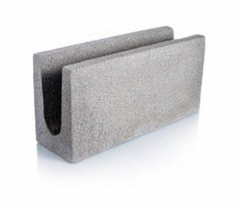 Bloque de cemento para encadenado Visto de 40 cm. X 12,8 cm. de espesor