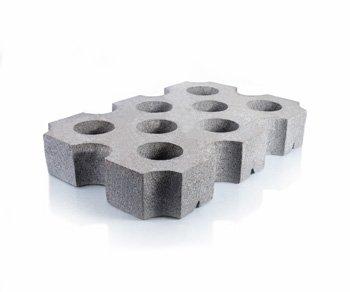 Bloque de cemento Loseta Cribada de 10 cm. de espesor