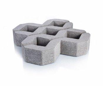 Bloque de cemento Loseta Cribada de 8 cm. de espesor