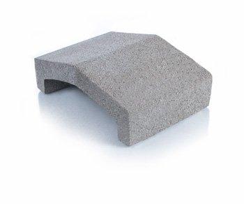 Bloque de cemento Tapa para muros de 13 cm. de espesor